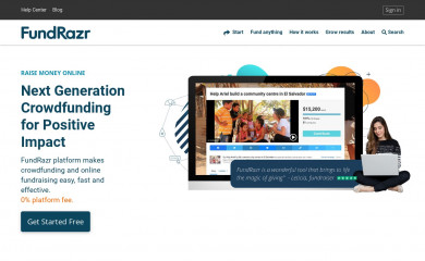 http://fundrazr.com screenshot