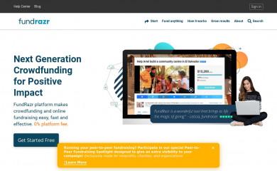 fundrazr.com screenshot