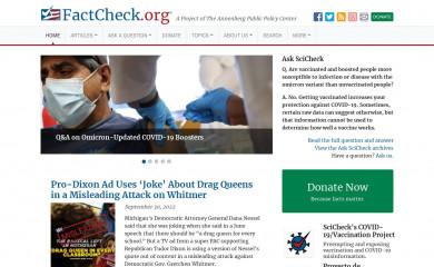 factcheck.org screenshot