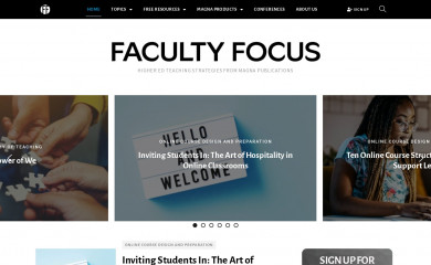 facultyfocus.com screenshot
