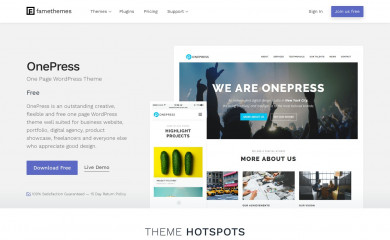 https://www.famethemes.com/themes/onepress/ screenshot