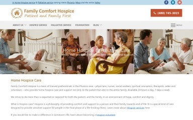 familycomforthospice.org screenshot