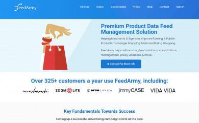 feedarmy.com screenshot