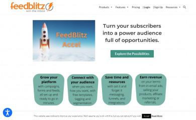 feedblitz.com screenshot