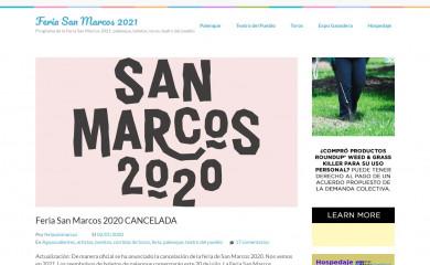 feriasanmarcos.org screenshot