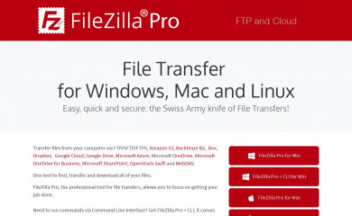 filezillapro.com screenshot