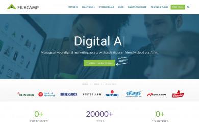 filecamp.com screenshot