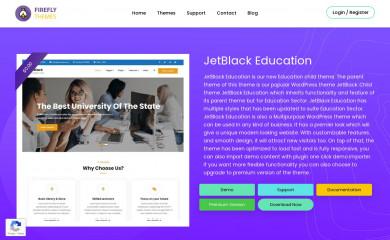 https://fireflythemes.com/themes/jetblack-education/ screenshot