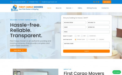 firstcargomovers.com screenshot