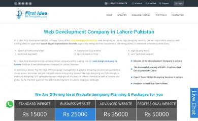http://firstideaweb.com screenshot