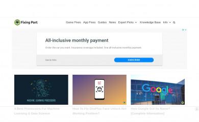 fixingport.com screenshot