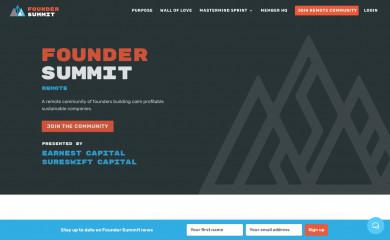 foundersummit.co screenshot