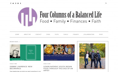 fourcolumnsofabalancedlife.com screenshot