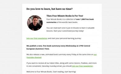 fourminutebooks.com screenshot