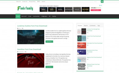 freefontsfamily.com screenshot