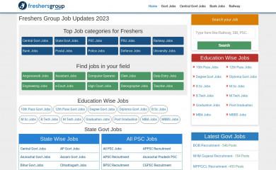 freshersgroup.com screenshot