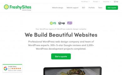 freshysites.com screenshot