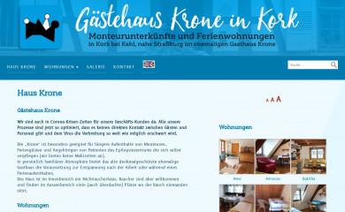gaestehaus-krone-kork.com screenshot