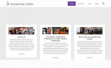 gamblebaycoffee.com screenshot