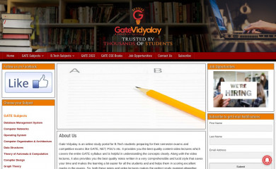 gatevidyalay.com screenshot