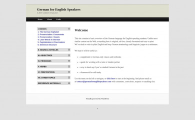 http://germanforenglishspeakers.com screenshot