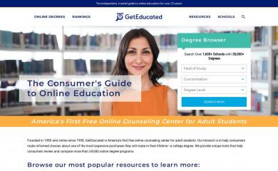 geteducated.com screenshot