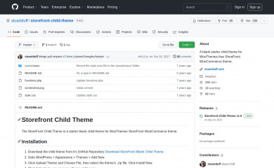 https://github.com/stuartduff/storefront-child-theme screenshot