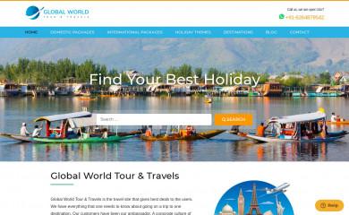 globalworldtourandtravels.com screenshot