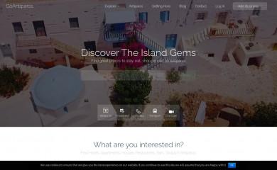 goantiparos.com screenshot