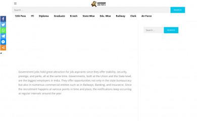 govtjobsportals.in screenshot