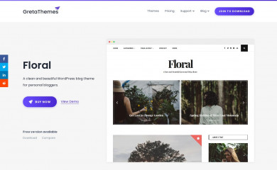 https://gretathemes.com/wordpress-themes/floral/ screenshot