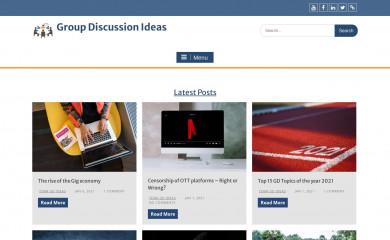 groupdiscussionideas.com screenshot