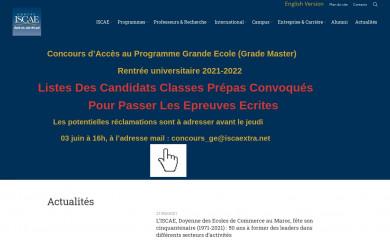 groupeiscae.ma screenshot