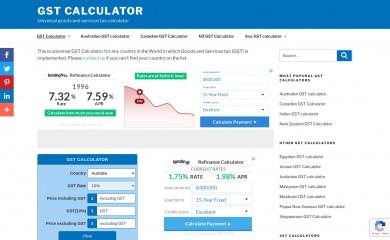 gstcalculator.net screenshot