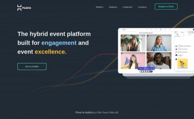 hubilo.com screenshot