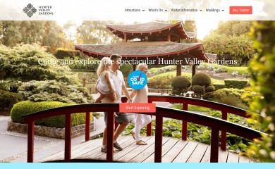 huntervalleygardens.com.au screenshot