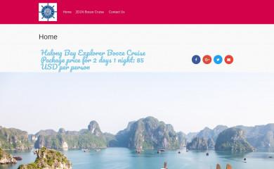 halongbayboozecruise.com screenshot
