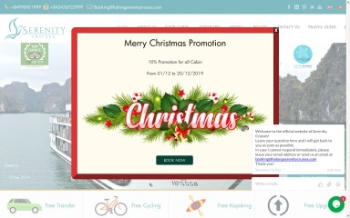 halongserenitycruises.com screenshot