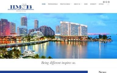 http://hamiltonmillerlaw.com screenshot