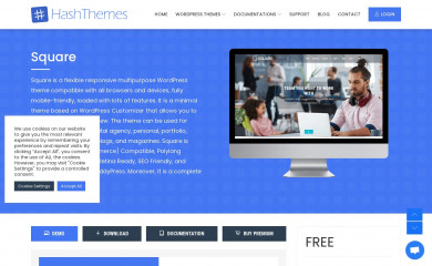 https://hashthemes.com/wordpress-theme/square/ screenshot