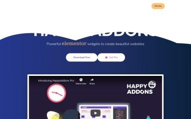 happyaddons.com screenshot