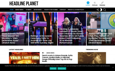 headlineplanet.com screenshot
