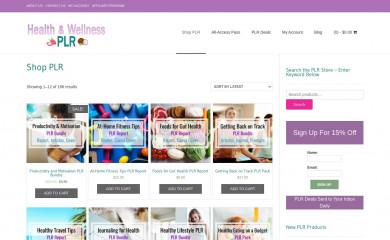 http://healthandwellnessplr.com screenshot