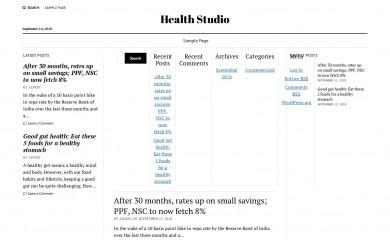healthstudio.org.in screenshot