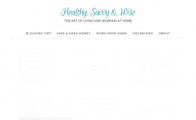 healthysavvyandwise.com screenshot