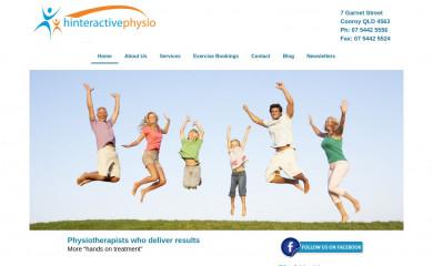 hinteractivephysio.com.au screenshot