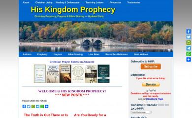 hiskingdomprophecy.com screenshot