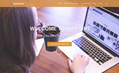 hiresine.com screenshot