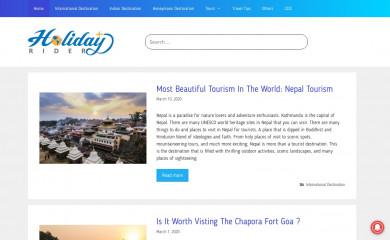 holidayrider.com screenshot