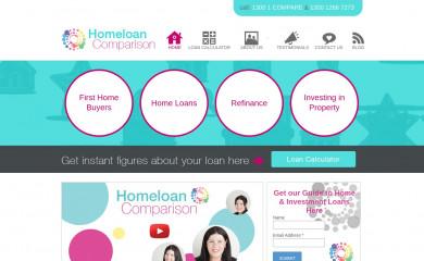http://homeloancomparison.com.au/ screenshot